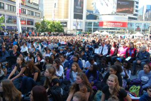 Freedom Day 2014 Crowd at Yonge-Dundas Square