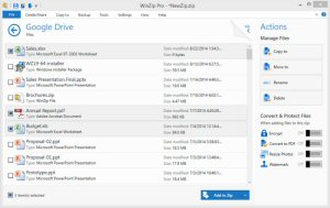 WinZip 19 makes it simple to manage all your files, whether they're saved in the cloud, on your system or network.