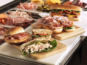 Catering at the new lodge will include a deli station, as well as a variety of choices for every meal.