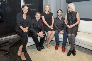 2014 recipients of the BC Creative Achievement Awards for Applied Art and Design, left to right (Marie Khouri of Vancouver, Judson Beaumont of Vancouver, Hon. Coralee Oakes, Minister of Community, Sport and Cultural Development, Jim Barnum of North Vancouver and Tania Gleave of Vancouver)