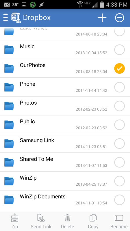WinZip(R) for Android Now Offers Dropbox Support for Safer ...
