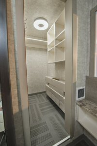 Workers also benefit from walk-in closets