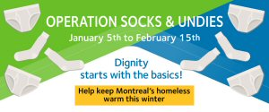 Welcome Hall Mission's Operation Socks & Undies