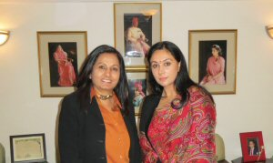 Princess Diya Kumari of Jaipur, Rajasthan with Almas Jiwani, President of UN Women National Committee Canada
