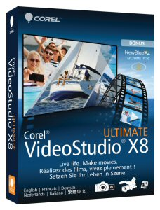 Corel VideoStudio Pro X8 and Corel VideoStudio Ultimate X8 bring together new tools, intelligent features and enhanced performance to unleash users' creativity.