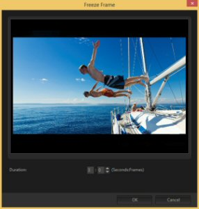 With the new Freeze Frame, it's easy to add extra impact by temporarily stopping the action to focus on a single frame.