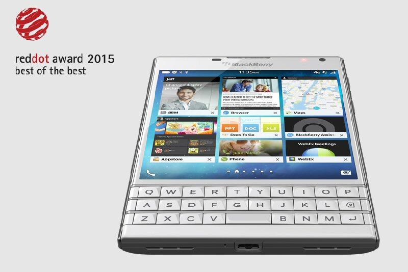Award-winning Design Achievement: BlackBerry Receives Prestigious Top Prize in the Red Dot Award 2015