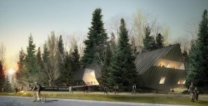 Architectural rendering of the Audain Art Museum located in Whistler, B.C. The 56,000 sq. ft. museum is scheduled to open to the public on Saturday, November 21, 2015.