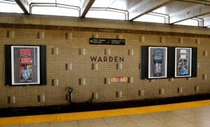 Carpoolers by Alejandro Cartagena in Toronto's Warden Subway Station, Contacting Toronto, 2015.