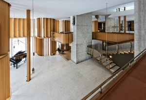 The Integral House's concert hall, which has previously hosted performances by Joshua Glass and Measha Brueggergosman. Photo by Philip Castleton