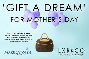 LXR & CO a décidé de faire le jour de la Fête des Mères une journée encore plus spéciale en vous offrant un rabais de 10%, provenant de tous les profits du 1er mai au 10 mai, qui bénéficiera directement Make-A-Wish Canada.
