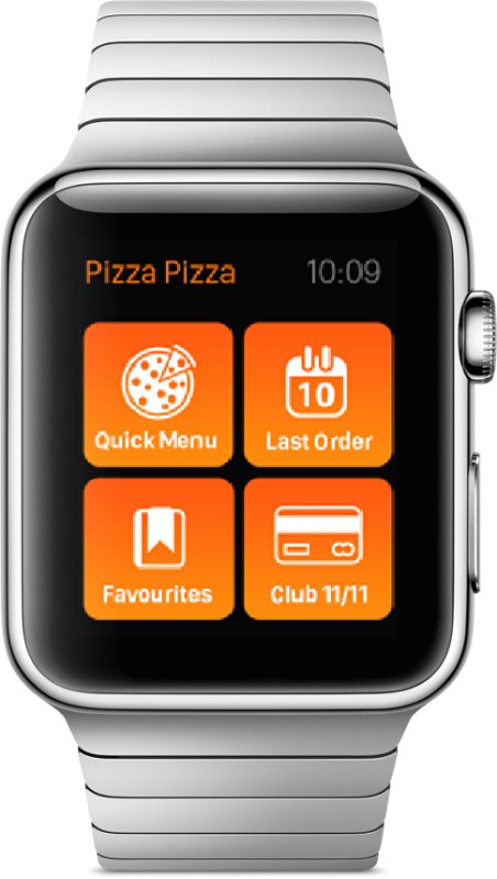 Pizza Pizza Among First Brands to Launch App for Apple Watch