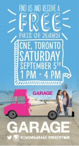 Garage Denim Tour 2015 kicks off in Toronto, ON.