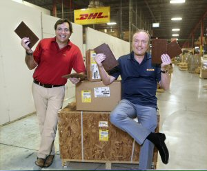 DHL Global Forwarding executives commemorate International Chocolate Day by celebrating shipping these special confections for more than 15 years.