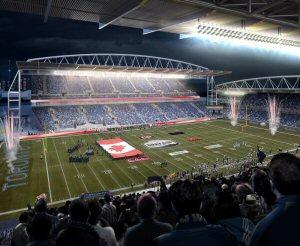 Concept artistique de l'allure du BMO Field lors de la 104e Coupe Grey présentée par Shaw.