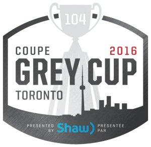 Logo de la 104e Coupe Grey présentée par Shaw