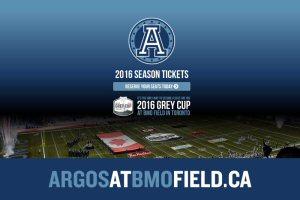 Réservez vos billets pour la 104e Coupe Grey, présentée par Shaw, en achetant vos billets de saison 2016 des Argonauts de Toronto.
