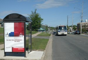 PATTISON Outdoor Advertising and the City of Fredericton partner to provide advertising on transit products, including buses and bus shelters.