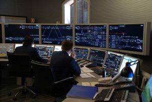 A BOMBARDIER EBI Screen control centre