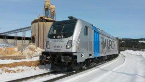 TRAXX Last Mile Lokomotive auf Testfahrt in Sokna, Norway.  Morten Rasmussen/Bombardier