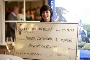 Amanda Coccimiglio wins Le Cordon Bleu's first ever 'Passion for Excellence' Scholarship Award worth over CDN$30,000