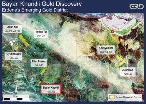 Bayan Khundii Gold Discovery - Erdene's Emerging Gold District