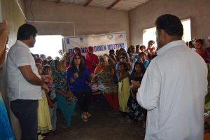 Almas Jiwani addressing Fishing women