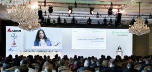 Almas Jiwani delivering keynote address at AGCO Corp