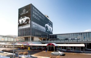 Canada's largest Out-of-Home (OOH) advertising company awarded contract for advertising at EIA. Shown above is a high-impact exterior Tower Wrap promoting Lexus Canada.