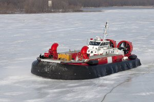 The hovercraft CCGS Mamilossa (Credit Photo : Fisheries and Oceans Canada  P. Dionne)