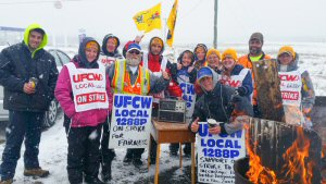 UFCW Canada Local 1288P members on strike for a fair first contract at Covered Bridge Potato Chips in New Brunswick, are asking consumers not to buy  Covered Bridge chips until the strike is over.