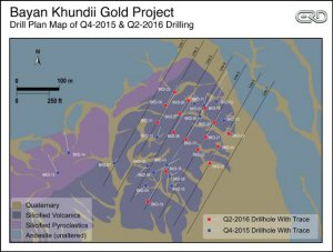 Bayan Khundii Gold Project - Drill Plan