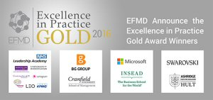 EFMD 2016 Excellence in Practice Gold Award Winners