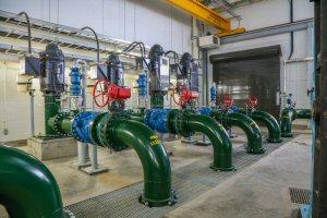 Interior of ATCO water pump station near Fort Saskatchewan