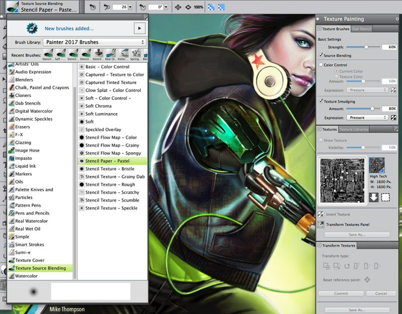 Corel Painter 2017 New Brushes And Customized Workflows