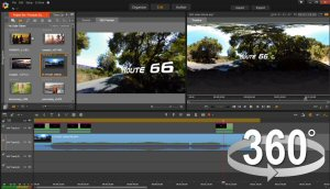 Create immersive video experiences with new 360 Video Editing. Add titles to your 360 video. Set a path to convert 360 video to a standard movie and share your creative vision with any audience.