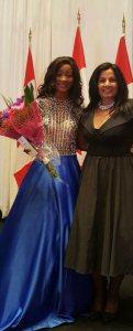 Almas Jiwani and Danielle Kadjo - Miss Universe Canada National Delegate.