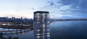EVOLO X is the new 36-storey condo tower of the Pointe-Nord neighborhood on Île-des-Soeurs
