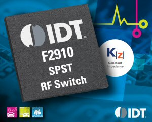 IDT Introduces Broadband SPST Absorptive RF Switch Featuring Constant Impedance Technology