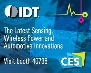 IDT to Exhibit Latest Sensing, Wireless Power and Automotive Product Innovations at CES 2017