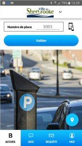 Application de stationnement de B-CITI - Ville de Sherbrooke
