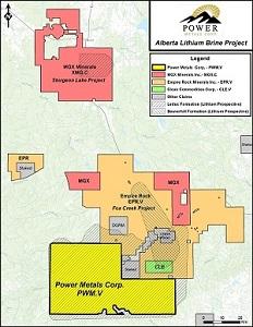 Figure 1 - Alberta Lithium Brine Project Map (South Leduc Brine project area)