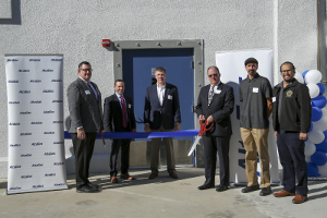 Nick Galotti, AltaGas; Scott Valentino, AltaGas; Jason Allen, AltaGas; Consul General of Canada James Villeneuve; Rubio Gonzalez, Council Member, City of Pomona and and Benny Ayala of California Senator Connie Leyva's Office celebrated the grand opening of the Pomona Energy Storage Facility - the fastest deployment of 20 MW in less than four months.