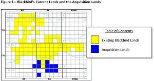 Figure 1 - Blackbird's Current Lands and the Acquisition Lands