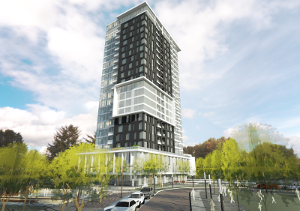 The first phase of the RioCan REIT and Killam Apartment REIT development at Gloucester City Centre will include a 217,000 square foot, 23-storey tower containing approximately 222 units. Site work has commenced and occupancy is anticipated in mid-2019.