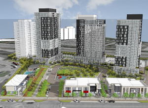 RioCan REIT and Killam Apartment REIT have entered into a joint venture to develop a residential community at Gloucester City Centre in Ottawa Ontario. The 7.1 acre site has zoning approval for a total of four residential towers containing up to an aggregate of 840 units.