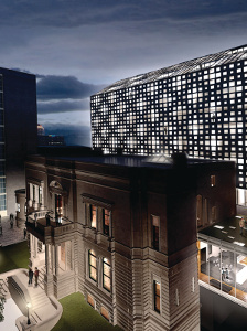 Facade of the new modern luxury hotel : Le Mount Stephen