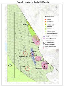 Figure 1: Borsko Drillhole Locations
