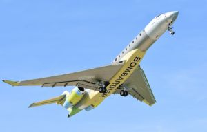 Bombardier's third Global 7000 flight test vehicle makes its first flight.