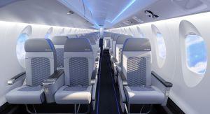 Design de la nouvelle cabine des avions CRJ Series.